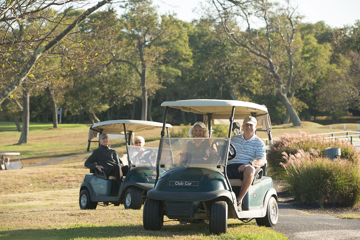 People-in-golf-carts